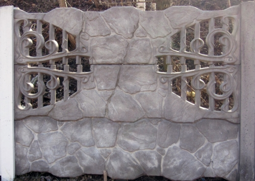 Бетонный (железобетонный) забор. Еврозабор. №25