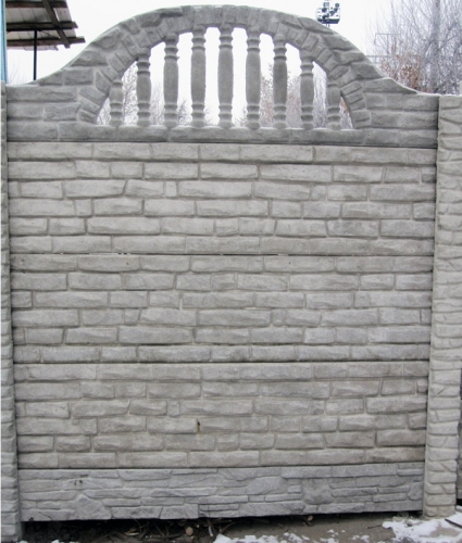 Бетонный (железобетонный) забор. Еврозабор. №3