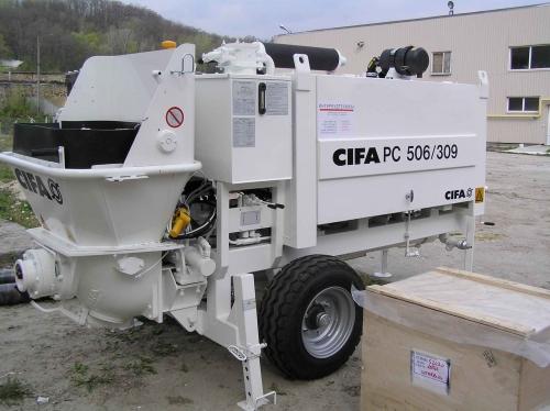 Бетононасос CIFA (Италия) Производительность - 52м3/ч. Двигатель Deutz - 65 кВт Подача по вертикали - 100 м