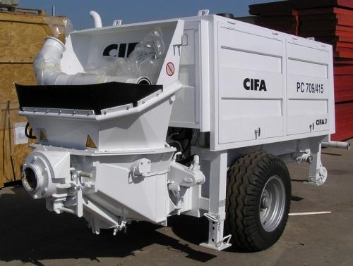 Бетононасос РС 709 CIFA Объем подачи - 70 м3/ч Подача по горизонтали/вертикал и -670/ 160 двигатель Deutz - 118 кВт