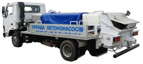 Бетононасос. Мобильный (передвижной) бетононасос - аренда.