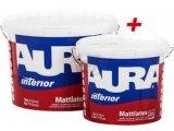 Фото  1 Краска латексная интерьерная моющаяся AURA MATTLATEX 10л 696496