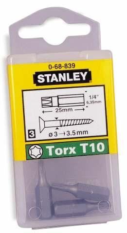 Бита Torx stanley T10 T20 T25 T30