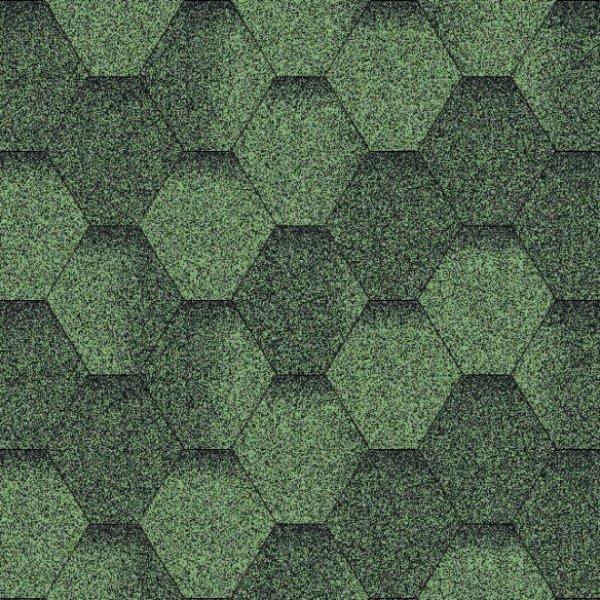 Фото  1 Битумная черепица «Мозаика» «Зеленая ЭКО» 1921035
