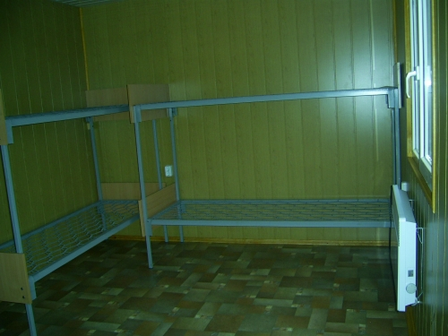 Бытовки строительные вид внутри с кроватями