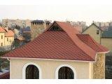 Фото  4 Битумная черепица «Мозаика» «Красный мак »(красный+черная тень 4924425