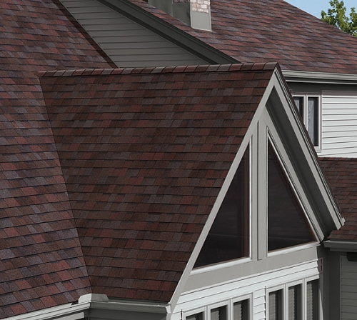 Битумная черепица Owens Corning (США), модель TruDefinition™ Duration® Shingles Designer Colors Collection цвет:merlot