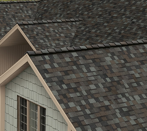 Битумная черепица Owens Corning (США), модель TruDefinition™ Duration® Shingles Designer Colors Collection цвет:stormclo