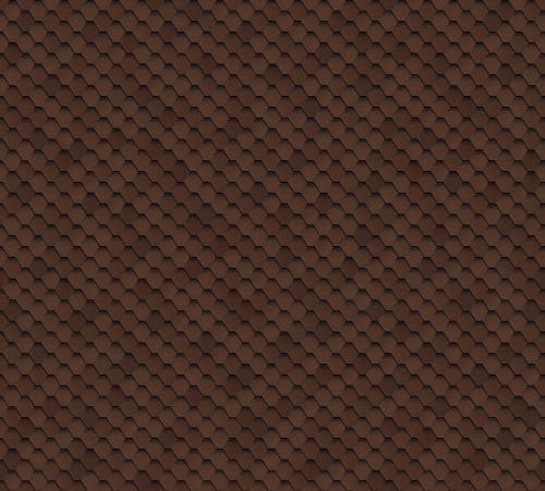 Битумная черепица SHINGLAS Кадриль коричневая