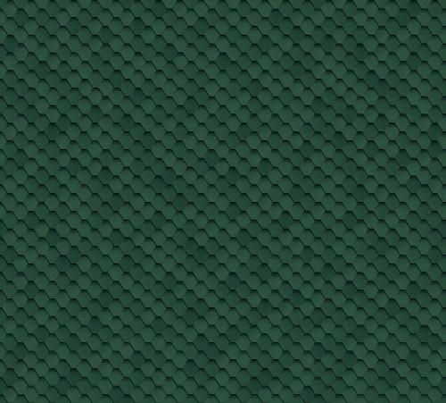 Битумная черепица SHINGLAS Кадриль зеленая