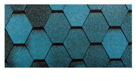 Битумная черепица Тегола Мозаик, синяя ночь