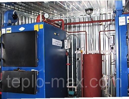 Фото  1 Блочно-модульная котельная на твердом топливе 200 кВт с 2-мя котлами Идмар GK-100 1745442