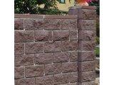 Фото  1 Блок декоративный для столба Золотой Мандарин М-200 двухсторонний скол 400х400х150 мм коричневый 2033827