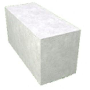Блок гладкий (газобетон) размер 300х200х600 мм
