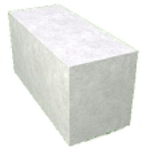 Блок гладкий (газобетон) размер 500х200х600 мм