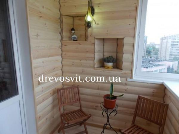 Блок хаус для внутрішніх робіт, розмір 85(80)*22*3000 Сосна, 1-й сорт. Гнучкі ціни.