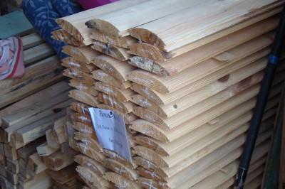 Блок-хаус, сосна, 32мм х 101мм х 4м, цена за квадратный метр
