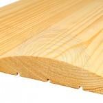 блок-хаус цельный округленный, сорт 1, материал сосна. Ширина 140 мм, толщина 35 мм, длина 4,0-4,5м кв.