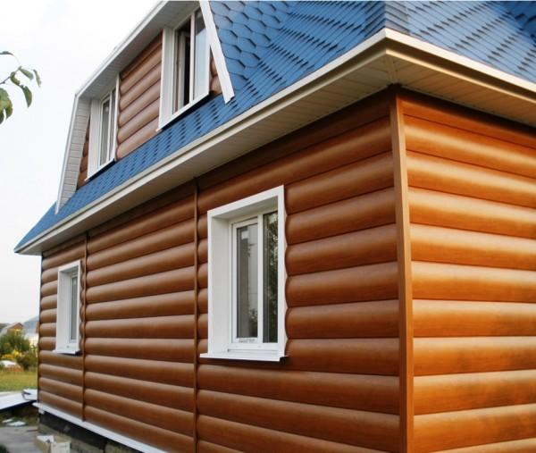 Блок-хаус у кольорах золотистий, бежевий, дуб світлий. Виробництво Україна. Надасть фасаду нового дихання.