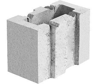Блок керамзитобетонный стеновой .130х250х200