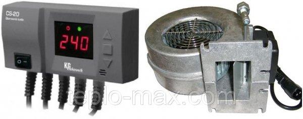 Фото  1 Блок управления KG ELEKTRONIK CS-20 + вентилятор WPA-120 для твердотопливных котлов 1745501