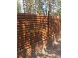 Фото  1 Блокхаус металевий Колода тип 1 колір світле дерево-2-с сторонній, для зборів 2302473