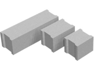 Блоки фундаментные длинна от 0,96-2,4м, ширина 0,3-0,6м.