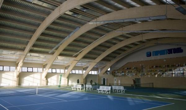 большепролетные гнутоклееные деревянные конструкции (арки, балки, стропила, фермы). Длинной до 24м, с прогибом до 7м