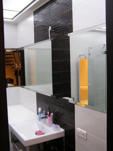 Большие зеркала в ванную комнату с фацетным кантом Одесса