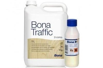 Бона Трэфик 4.5л 0.05л– паркетный лак с двумя основными компонентами: вода и чистый полиуретан.