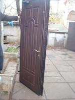 Бронедверь 2,05*0,96. Отделка двери: с двух сторон накладка МДФ для уличных дверей 16мм.