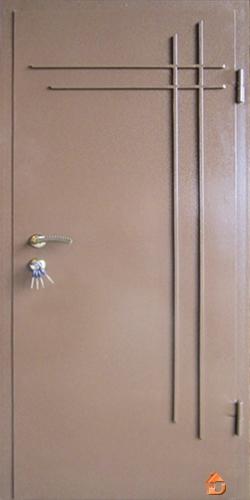 Бронедвери 960х2050 наружные с молотковым покрасом с ковкой