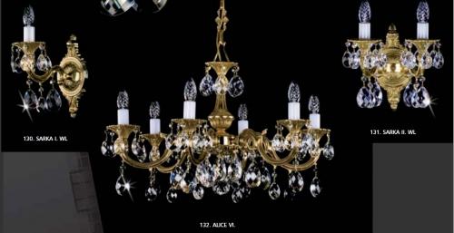 бронзовые литые светильники - люстры, бра