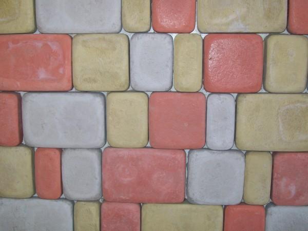 Брук 45 шт. на 1 кв. м размер 18,0*12,0 толщина 2,5 см цвета:желтый, черный, красный, коричневый, серый