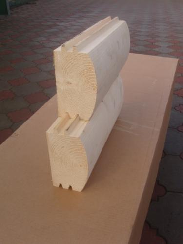 Брус профилированный D-образный. Толщина до 180 мм, высота до 180 мм длина до 8 м. Смерека, брус цельный (не клееный).