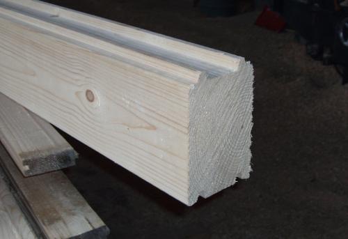 Брус профилированный. Толщина до 180 мм, высота до 180 мм длина до 8 м. Материал смерека, брус цельный (не клееный).