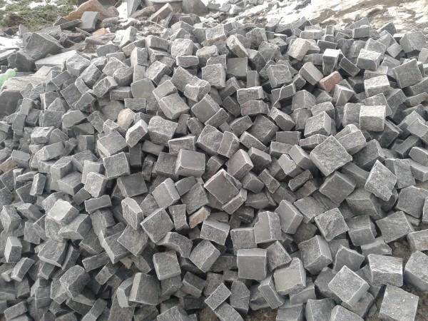 брусчатка гранитная 10*10*5 габбро 600грн/т или 80грн/м2