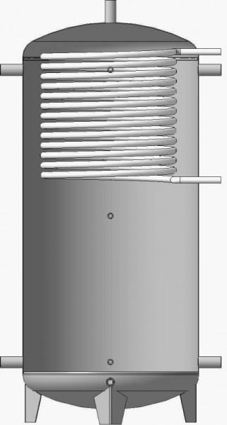 Буферная емкость (теплоаккумулятор) 1000л. EA-10-1000 с верхним змеевиком теплоизоляция