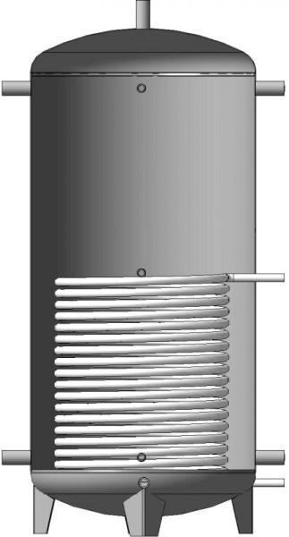 Буферная емкость (теплоаккумулятор) 1500л. EA-01-1500 с нижним змеевиком теплоизоляция