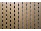 Фото  1 Акустические панели Decor Acoustic звукопоглощающая 2768 х320 х16.4мм с перфорацией под дерево бук 2082470