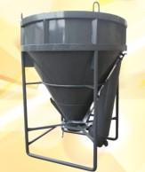 Бункер круглый 1,5 куб. метра шибер/лоток 7250,00