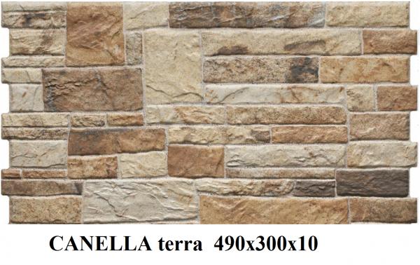 плитка фасадная CANELLA terra 490x300x10