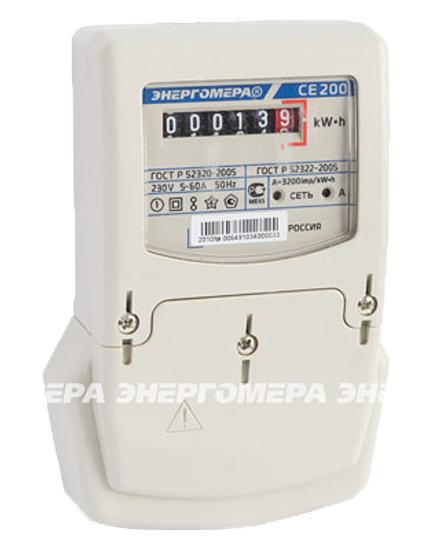 Счетчик электроэнергии однофазный CE 200 S6 145M6