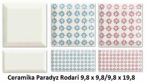 Ceramika Paradyz Rodari 9,8 x 9,8, Ceramika Paradyz Rodari 9,8 x 19,8
