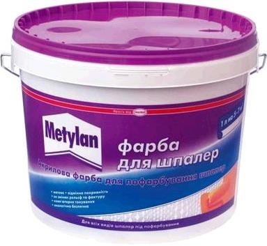 CERESIT METYLAN Краска акриловая для окраски обоев (10л)