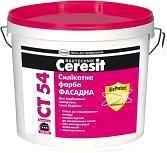 Ceresit СТ 54 база Краска силикатная фасадная (10л)
