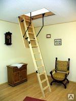 Чердачная лестница Oman Termo – 3-х секционная, сосна, металл