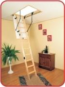 чердачная лестница Oman TERMO LONG размеры: 120х60; 120х70 высота 335см