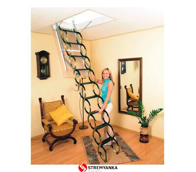Фото  1 Чердачная ножничная лестница Oman Flex Termo Metal Box (120x70) H290 2237426