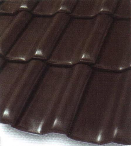 Черепица керамическая ангоба коричневая